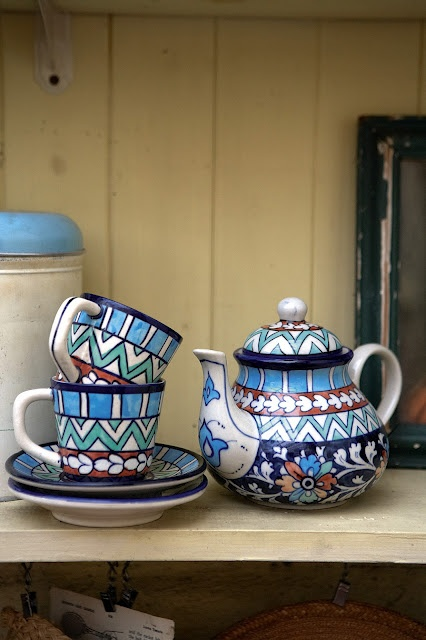 iznik inspired pero ceramics hand thrown and painted from