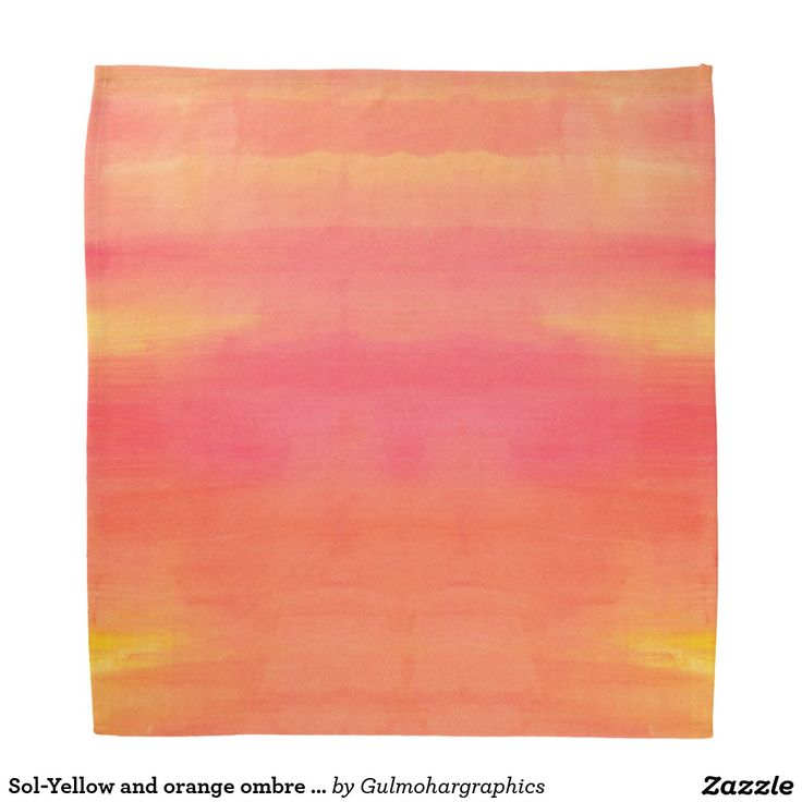 Sol-Yellow and orange ombre watercolor art Bandana