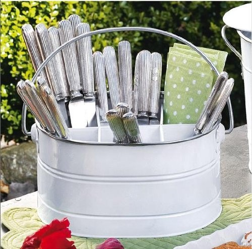 Utensil Bucket Has Plenty Of Room For Your Flatware, Napkins And More, And  The