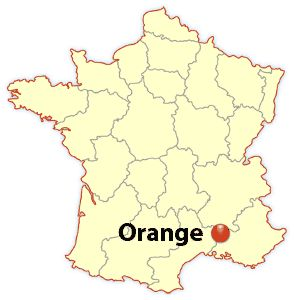 orange france, orange location map - James Martin, Europe Travel