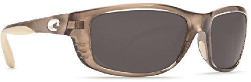 Costa Del Mar Sunglasses - Zane- Plastic / Frame: Crystal Bronze Lens: Polarized Gray 580P Polycarbonate. Lens Color: Gray 580 Polycarbonate Plastic Lenses.