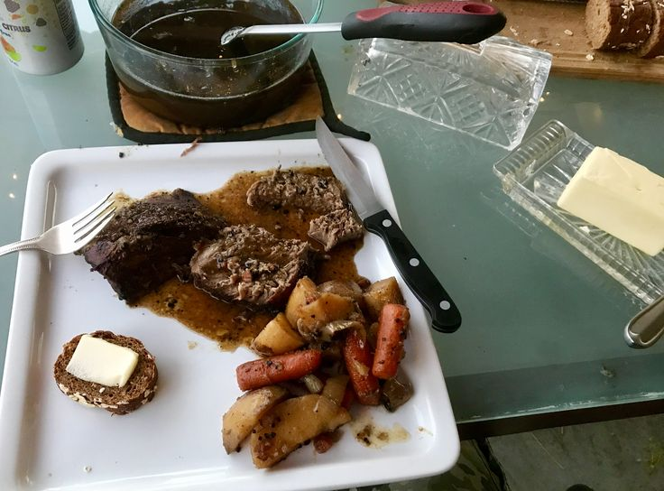 [Homemade] Cast Iron Dutch Oven Pot Roast #recipes #food #cooking #delicious #foodie #foodrecipes #cook #recipe #health