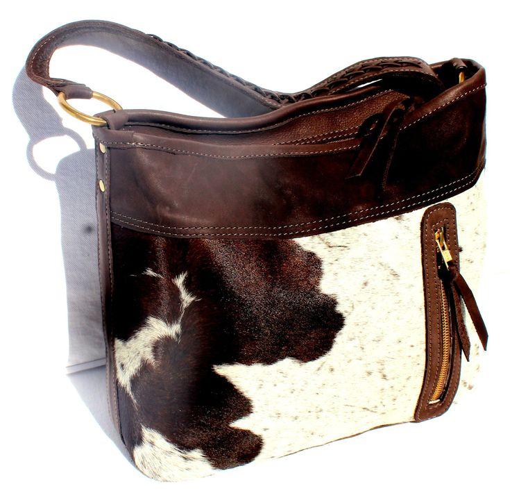 CARLA HANDBAG - in cowfur or goatfur & leather