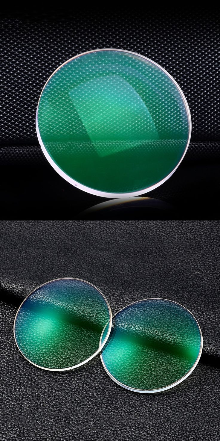 Vazrobe Aspheric 1.61 Index Resin Glasses Lenses For Computer Coating Green Film Anti Blue Radiation UV Anti Glare Oleophobic