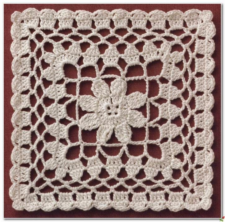 crochet square motif.‏                                                                                                                                                      More
