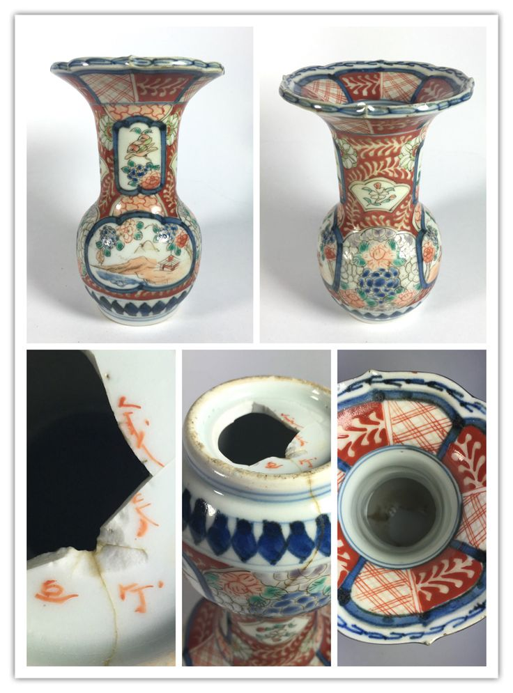 19th Century Japanese  Imari vase that can be identified based on an identical piece as 蔵春亭三保造 (Zoshuntei Sanpo Zo) and can be dated to 1840-1870. His real name was Tsunemase Yojiro Hisotomi.