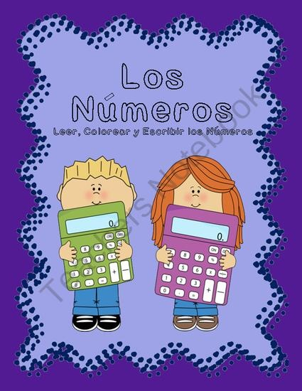 Escribir Los Números from Growing Bilingual Learners on TeachersNotebook.com (18 pages)
