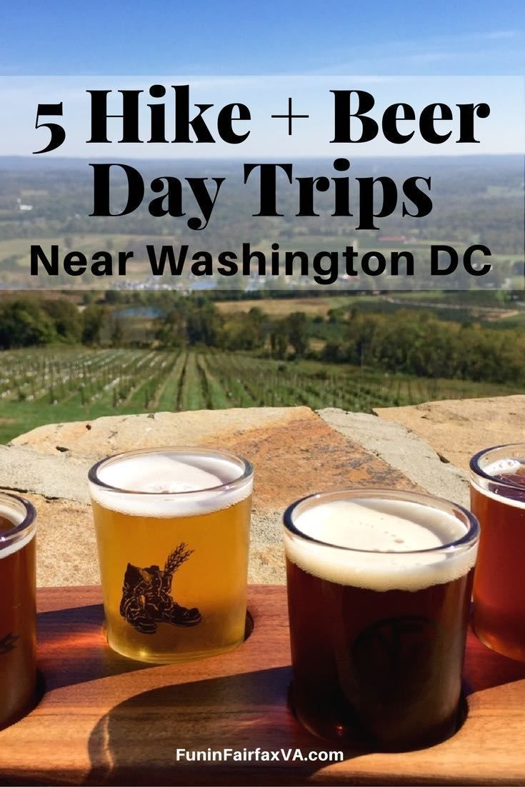 These 5 hike and beer day trips pair the great outdoors with Virginia's thriving craft brewery scene, exploring trails and taprooms near Washington DC. USA