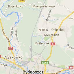 Bydgoszcz Plan Miasta - Mapa Bydgoszczy