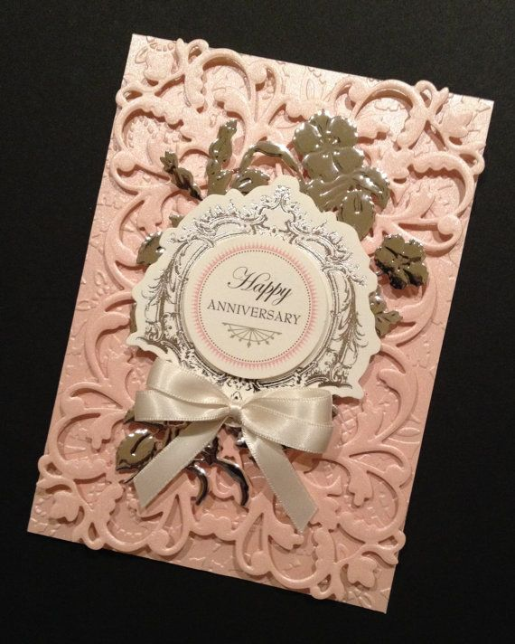Shabby-Sweet Floral Anniversary Card with Pearlized Anna Griffin Papers