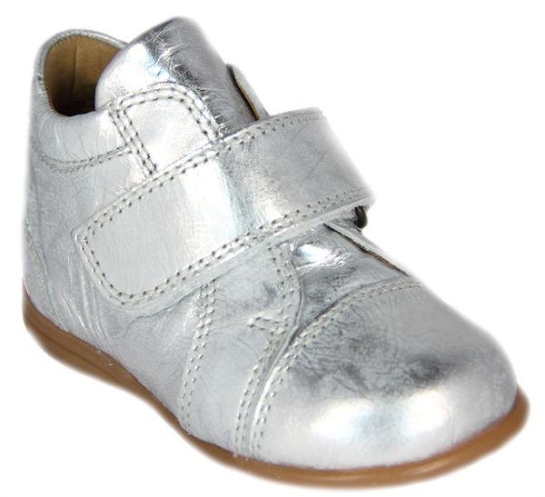 Melton - Første sko - sølv m/ velcro