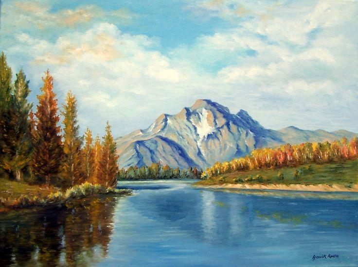 Autumn Landscape-Snake River-Mount Moran