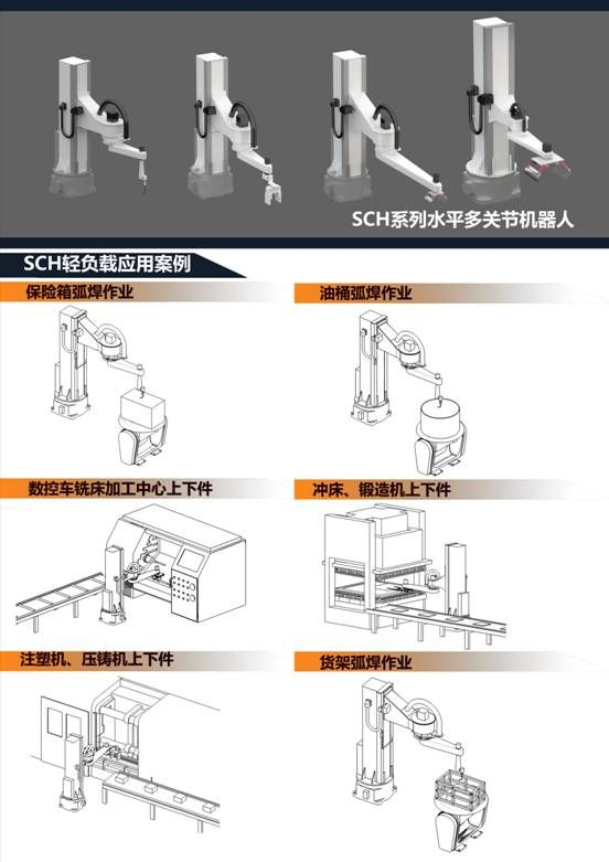 SCH Series SCARA robots-Industrial robots and automation-fire-fighting robot , palletizing robot , AGV handling robots , industrial robots-Changzhou Changtan Robot Co., Ltd.