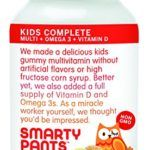 SmartyPants Kids Complete Gummy Vitamins: Multivitamin, Vitamin D3, B12 (Methylcobalamin), AND Omega 3 DHA / EPA Fish Oil, 120 count