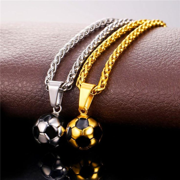 High quality Football Necklaces with Stainless Steel Chain – Footballaza