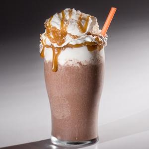Boozy Salted Caramel Milkshake, American Cupcake