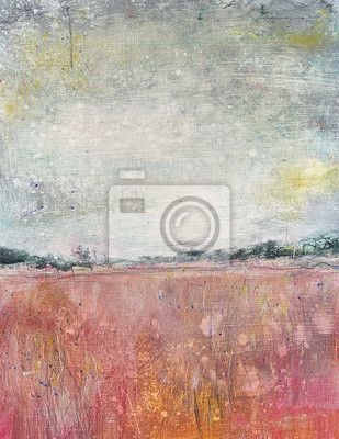 Wall Mural Color decoration pattern on background, landscape, painting