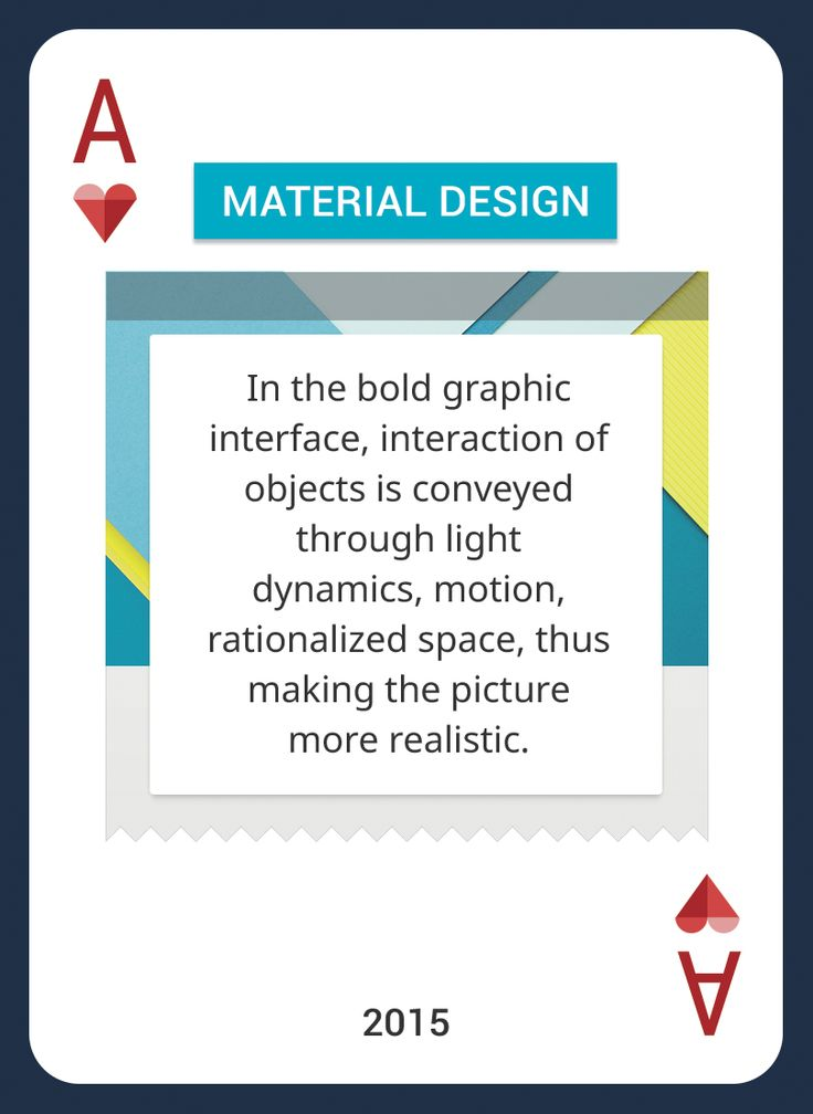Win This Custom Card Deck & Discover Web Design Trends 2004-2014 https://www.pinterest.com/templatemonster/win-the-web-design-trends-cards/ #webdesigntrends #materialdesign #playingcards #google #android