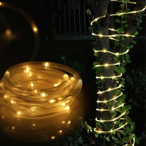 TOMSHINE 5M / 16ft LED Solar Rope Lights Water-resistant 50 LEDs Outdoor Rope Lights String Light Light Sensor for Christmas Wedding Party Decorations Gardens Lawn Patio