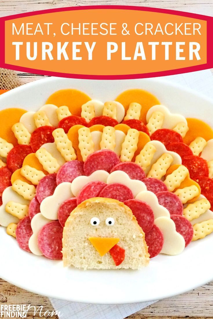 Thanksgiving Appetizers Meat Cheese And Cracker Turkey Platter In 2020 Thanksgiving Appetizers Kid Friendly Meals Cheese Crackers