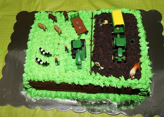 Tractor Birthday Cake Pict
