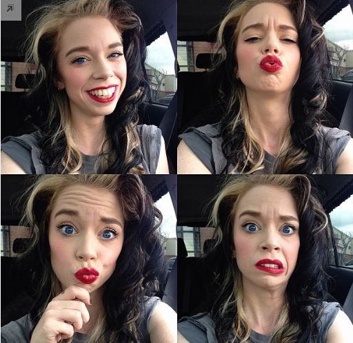 And here we have the wonderful and hilarious faces of a miss Bunny Meyer. She's perfect haha.