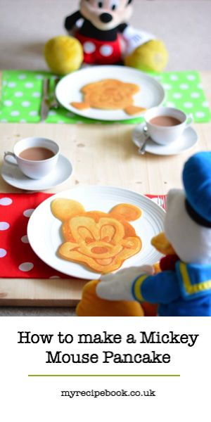 How to make a Mickey Mouse pancake. Including pancake recipe, tips and video. fun for audreys breakfasts