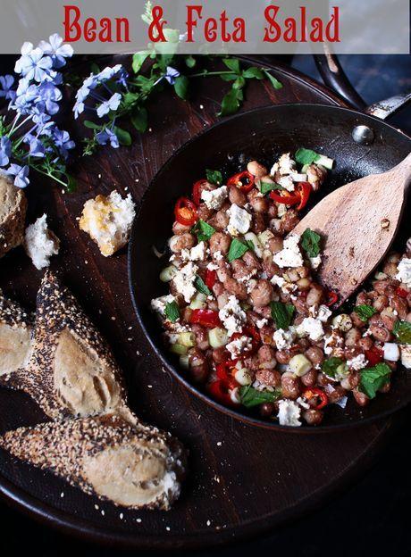 ... Inspired Borlotti Bean & Feta Salad   Beans, Salads and Feta salad