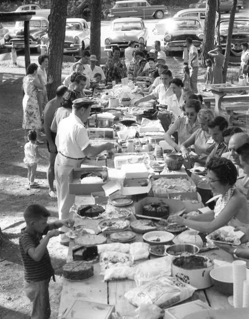 Labor Day Picnic - 1959. I remember the 'block parties'. Getting together with neighbors in a fun way!