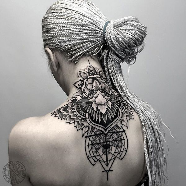 Awesome mandana neak tattoo - 50 Awesome Neck Tattoos