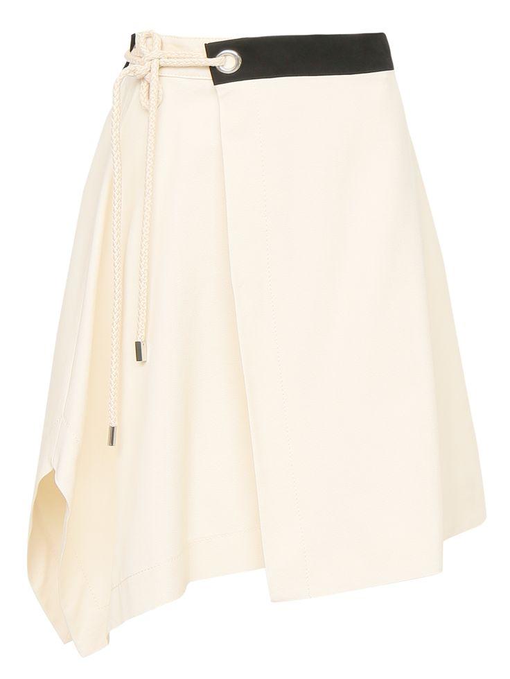 Купить со скидкой Sportmax бежевая юбка из хлопка с запахом (140738) – распродажа в Боско Аутлет