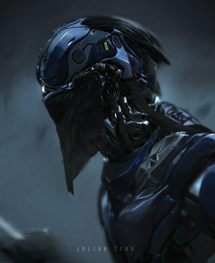 Sci-Fi, Cyberpunk, Futuristic, Helmet, Android, Humanoid