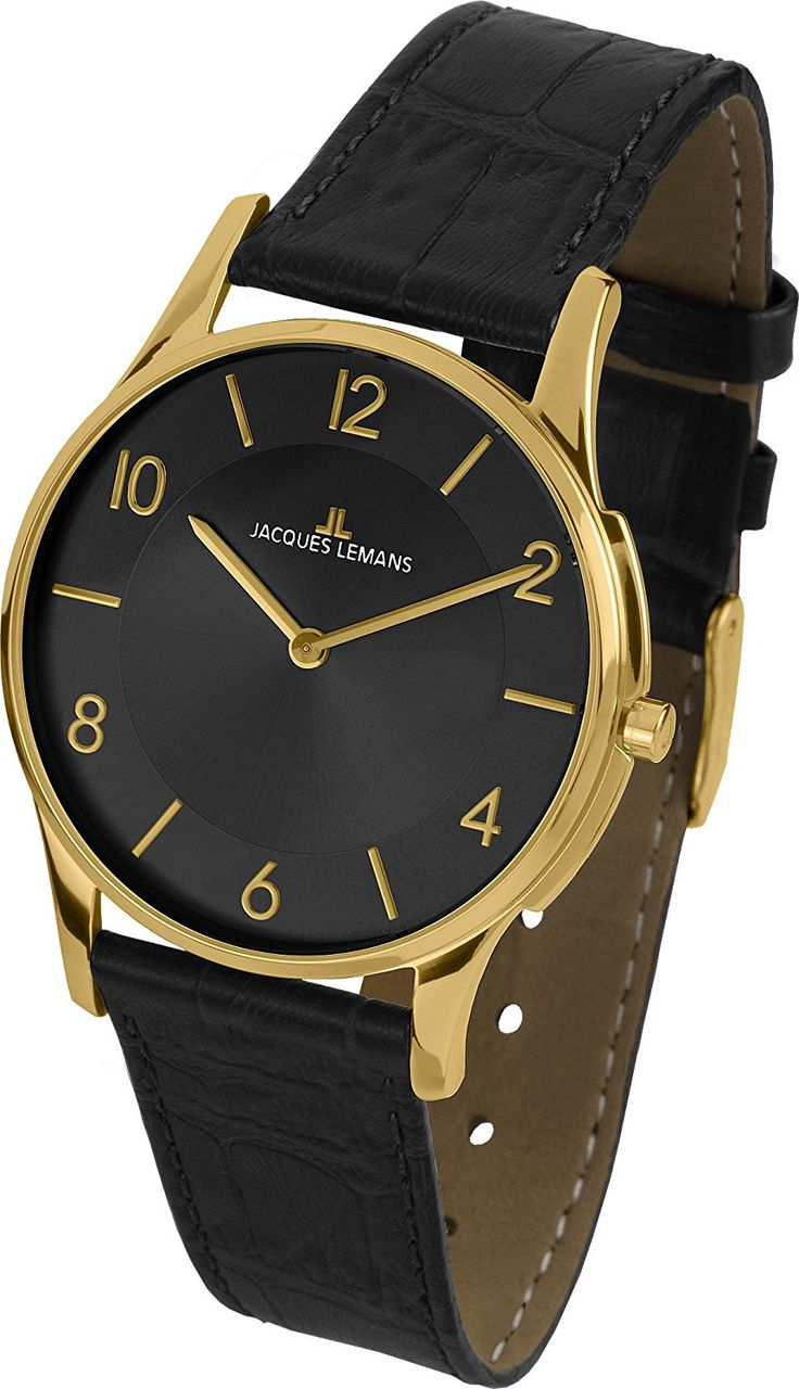 Jacques Lemans Women's 1-1778O London Classic Analog Black Leather Strap and Flat Caseversion Watch * Find out more about the great watch at the image link.