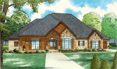 Plan 60699ND: European House Plan with Vaulted Great Room