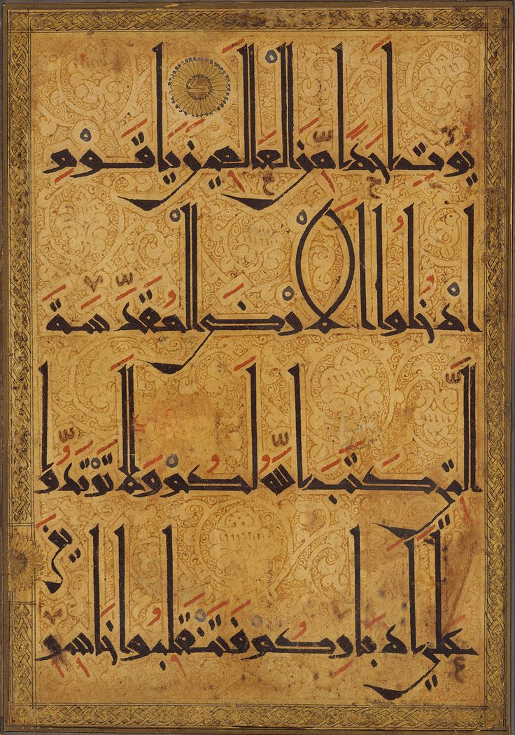 Quran Manuscript Leaf- Gold and Ink- 11th/12th Century Iran/Afghanistan