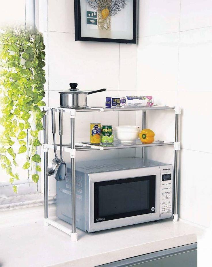 17 migliori idee su scaffale per forno a microonde su - Scaffale per cucina ...