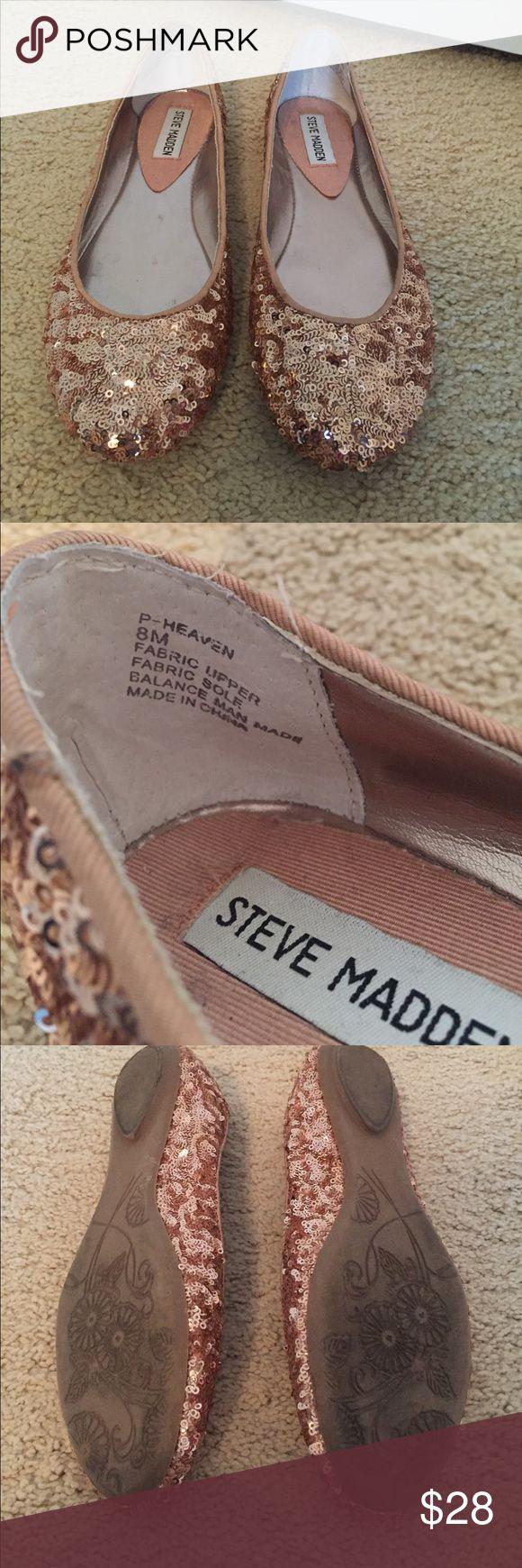 Steve Madden blush sequined flats, size 8M Steve Madden blush sequined flats, size 8M. Steve Madden Shoes Flats & Loafers