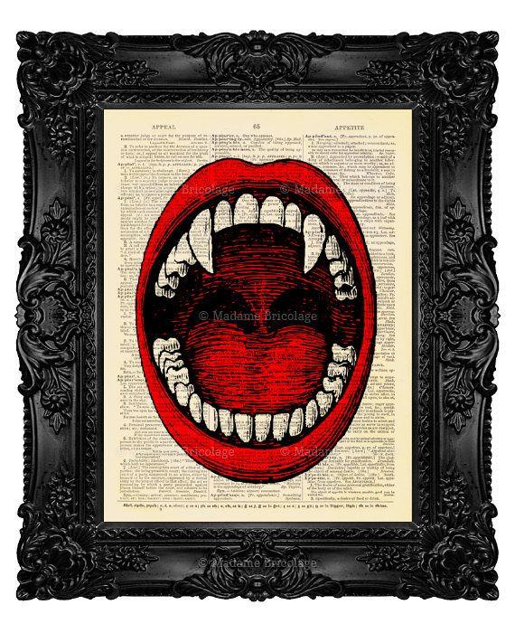 Vampire Anatomy, Vampire Fan Gift, Halloween Decor Idea