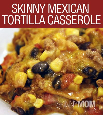 Skinny Mexican Tortilla Casserole! Great reciepe that the whole family will love! Only 250 calories per serving! 7 WW Plus Point!