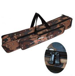 Long Grey Travel Folding Portable Fishing Rod Bag 80cm/1.2m
