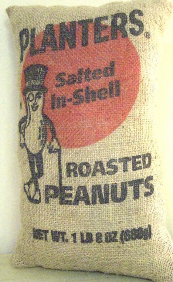 Vintage Bag of peanuts... Their peanuts were sold Pre-packaged in these bags in the Planters Peanut Shop on the Ocean City,NJ boardwalk. Store gone now.