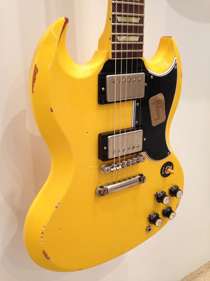 Here comes another stunner - enter the Limited Edition 1961 SG Standard Reissue (Lightly Aged) from @Gibson Custom