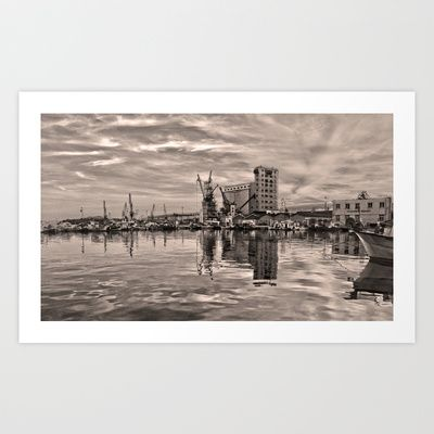 Volos Port Art Print by Pakaraha - $15.60