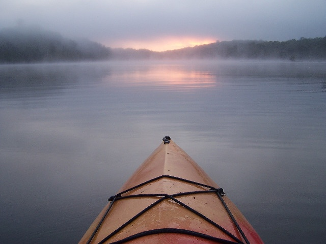 Early morning paddle in Ontario's Highlands