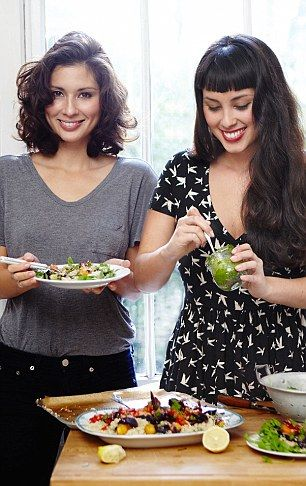 Trendy chefs Deliciously Ella (left) and the Hemsley sisters (right) are some of the chefs using Middle Eastern ingredients in some of their Instagram-worthy dishes