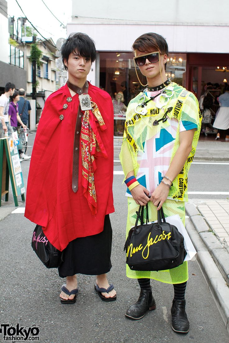 Harajuku Guys in Handmade Fashion & Marc Jacobs