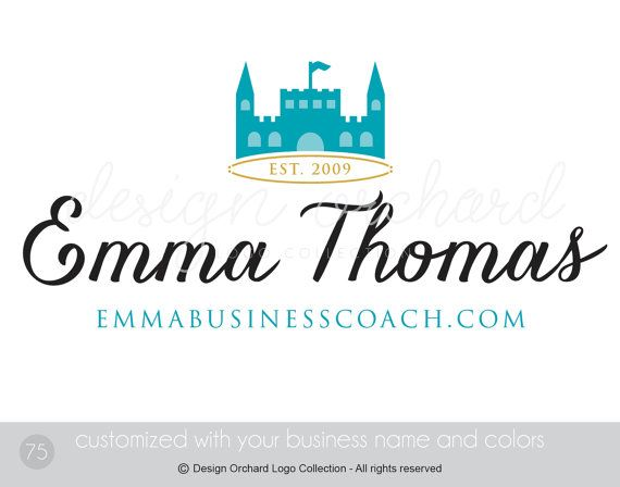 Business Coach Logo Castle Logo Design by DesignOrchard on Etsy