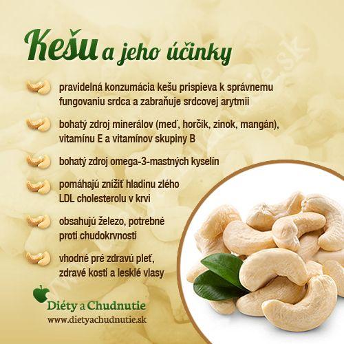 Pripravte si z kešu orieškov chutný krém, recept nájdete tu http://www.dietyachudnutie.sk/recepty-na-chudnutie/krem-z-kesu-orieskov/