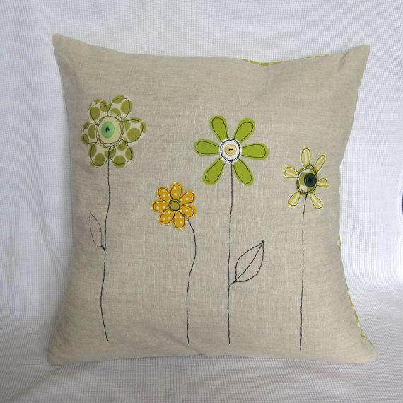 Amortiguador de cubierta amarillo y verde flores de por tailorbirds