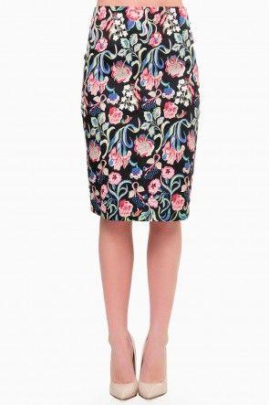 Ida Floral Pencil Skirt